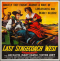 "Movie Posters:Western, Last Stagecoach West (Republic, 1957). Six Sheet (80"" X 81""). Western.. ..."