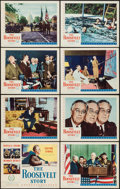 "Movie Posters:Documentary, The Roosevelt Story (United Artists, 1948). Lobby Card Set of 8 (11"" X 14""). Documentary.. ... (Total: 8 Items)"