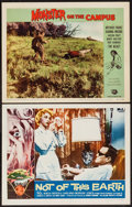 "Movie Posters:Science Fiction, Not of This Earth & Other Lot (Allied Artists, 1957). LobbyCards (2) (11"" X 14""). Science Fiction.. ... (Total: 2 Items)"