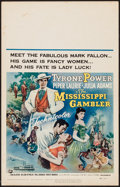 "Movie Posters:Adventure, The Mississippi Gambler (Universal International, 1953). WindowCard (14"" X 22""). Adventure.. ..."