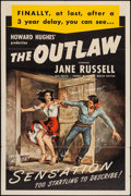 "Movie Posters:Western, The Outlaw (RKO, R-1950). One Sheet (27"" X 41""). Western.. ..."