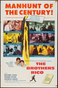 "Movie Posters:Film Noir, The Brothers Rico (Columbia, 1957). One Sheet (27"" X 41"") & Lobby Card (11"" X 14""). Film Noir.. ... (Total: 2 Items)"