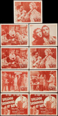 """Movie Posters:Mystery, Bulldog Drummond at Bay (Columbia, 1947). Title Lobby Cards (2)& Lobby Cards (7) (11"""" X 14""""). Mystery.. ... (Total: 9 Items)"""