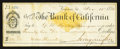 Obsoletes By State:Nevada, Virginia, NV- Agency of The Bank of California Check $22.97 Nov. 11, 1876. ...