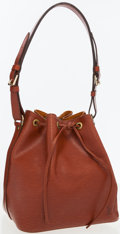 Luxury Accessories:Bags, Louis Vuitton Cognac Epi Leather Noe PM Shoulder Bag. ...