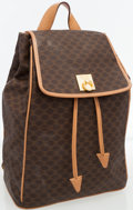 Luxury Accessories:Bags, Celine Brown Monogram Canvas Vintage Satchel Backpack . ...