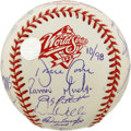 Autographs:Baseballs, 1998 New York Yankees Team Signed Baseball. Coming off theirremarkable 114-win season in 1998, the New York Yankees were ...