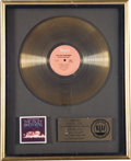 "Music Memorabilia:Awards, Isley Brothers ""Go For Your Guns"" RIAA Gold Album Award. An RIAAaward presented to Rudolph Isley to commemorate the sale of...(Total: 1 Item)"