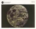 "Autographs:Military Figures, Lunar Photograph With Fifteen Signatures of Apollo Astronauts, 8"" x 10"". This official NASA color image of the moon is signe... (Total: 1 Item)"