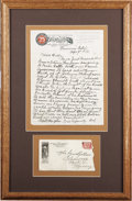 Western Expansion:Cowboy, INTERESTING AUTOGRAPH LETTER SIGNED BY BUFFALO BILL CODY. One-pageletter on Sells-Floto Circus letterhead, penned while on ...(Total: 1 Item)