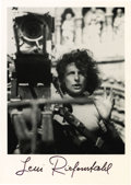 "Movie/TV Memorabilia:Autographs and Signed Items, Leni Riefenstahl Signed Photo. A b&w 4"" x 6"" photo of thecontroversial filmmaker, signed by her in black ink. In Excellent... (Total: 1 Item)"