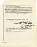 """Movie/TV Memorabilia:Autographs and Signed Items, Ann-Margret Signed Contract. A two-year agency contract datedFebruary 1, 1963, signed """"Ann-Margret Olson"""" by the actress as...(Total: 1 Item)"""