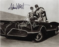 "Movie/TV Memorabilia:Autographs and Signed Items, Adam West and Burt Ward Signed ""Batman"" Photo. A b&w 8"" x 10""photo of the Dynamic Duo signed by West in black marker and Wa...(Total: 1 Item)"