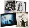 "Movie/TV Memorabilia:Autographs and Signed Items, Assorted Actress-Signed Photos. Includes a blue sepia-toned 8"" x10"" still from Psycho signed by Janet Leigh and b&w 8""... (Total: 1 Item)"