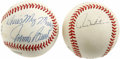 Autographs:Baseballs, Paul Molitor, Eddie Murray, and Paul Molitor Signed Baseballs Lotof 2. Great Hall of Fame pair of signed baseballs include...