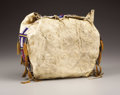 American Indian Art:Beadwork, A CHEYENNE CHILD'S BEADED HIDE TIPI BAG. . c. 1880. ...