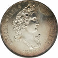 "Patterns: , 1859 P50C Half Dollar, Judd-239, Pollock-295, R.4, PR62 PCGS. Thefamiliar ""French Head of Liberty"" 1859 pattern obverse wa..."