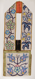 American Indian Art:Beadwork, A CHIPPEWA BEADED BANDOLIER BAG. . c. 1900. ...