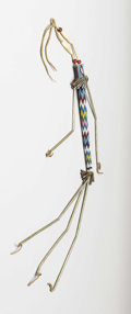 American Indian Art:Beadwork, A KIOWA BEADED HIDE AWL CASE. c.1880...