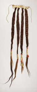American Indian Art, A NORTHERN PLAINS HAIR EXTENSION. . c. 1890. ...
