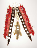 American Indian Art:Beadwork, A SIOUX MAN'S QUILLED HIDE BREASTPLATE. c. 1920. ...