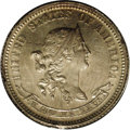 Patterns: , 1870 10C Standard Silver Ten Cents, Judd-843, Pollock-942, Low R.6,PR64 PCGS. The obverse has a head of Liberty with a dia...