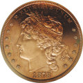 Patterns: , 1878 $1 Goloid Dollar, Judd-1559, Pollock-1751, R.7, PR61 Red and Brown PCGS. Liberty faces l...