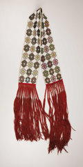 American Indian Art:Beadwork, A POTAWATOMI/MENOMENI LOOM-BEADED SASH. . c. 1890. ...
