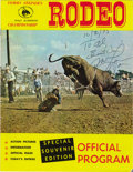 Movie/TV Memorabilia:Autographs and Signed Items, Michael Landon Signed Rodeo Program. A souvenir program book for Tommy Steiner's Championship Rodeo, dated October 2, 1973 a... (Total: 1 Item)