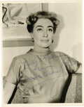 "Movie/TV Memorabilia:Autographs and Signed Items, Joan Crawford Signed Photo. A b&w 8"" x 10"" photo inscribed and signed by the actress in blue ballpoint. In Bery FIne to Exce... (Total: 1 Item)"