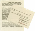 Movie/TV Memorabilia:Autographs and Signed Items, Edith Head Signed Contract. Two partial pages from a contract (date unknown) signed by the legendary costume designer in bro... (Total: 1 Item)