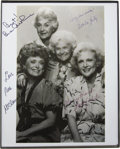 "Movie/TV Memorabilia:Autographs and Signed Items, ""The Golden Girls"" Cast-Signed Photo. A b&w 8"" x 10"" cast photosigned by Bea Arthur, Estelle Getty, Rue McClanahan, and Bet...(Total: 1 Item)"