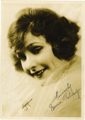 """Movie/TV Memorabilia:Autographs and Signed Items, Norma Talmadge Signed Photo. A b&w 5"""" & 7"""" photo incribedand signed by the silent-era actress in black ink. In Very Fineco... (Total: 1 Item)"""