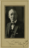 """Movie/TV Memorabilia:Autographs and Signed Items, George M. Cohan Signed Photo. A b&w 3.5"""" x 5"""" photo of thecomposer-playwright, matted to an overall size of 4.5"""" x 7.5"""" an...(Total: 1 Item)"""