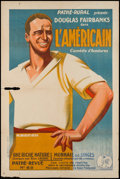 "Movie Posters:Adventure, The Americano (Pathe, 1920s). French Affiche (31.5"" X 47"").Adventure.. ..."