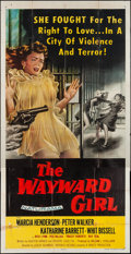 "Movie Posters:Bad Girl, The Wayward Girl (Republic, 1957). Three Sheet (41"" X 79""). BadGirl.. ..."