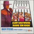 "Movie Posters:Western, Hang 'Em High (United Artists, 1968). Six Sheet (79"" X 79""). Western.. ..."