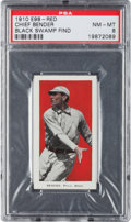 "Baseball Cards:Singles (Pre-1930), 1910 E98 ""Set of 30"" Chief Bender, Red (Black Swamp Find) PSA NM-MT8. ..."