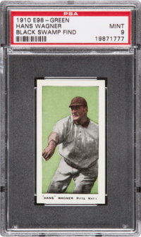 "1910 E98 ""Set of 30"" Honus Wagner (Black Swamp Find) PSA Mint 9"