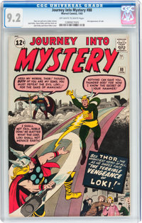 Journey Into Mystery #88 (Marvel, 1963) CGC NM- 9.2 Off-white to white pages