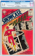 Silver Age (1956-1969):Superhero, Showcase #4 The Flash (DC, 1956) CGC GD 2.0 Cream to off-whitepages....