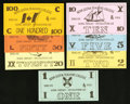 Canadian Currency: , Nova Scotia Teachers College School Currency 1975 and 1976 Issues..... (Total: 15 notes)