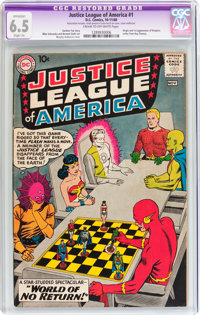 Justice League of America #1 (DC, 1960) CGC Apparent FN+ 6.5 Slight (A) Cream to off-white pages