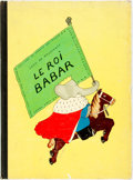 Books:Children's Books, Jean de Brunhoff. Le Roi Babar. Paris: Jardins desModes/Conde Nast, [1933]. First edition. Folio. 48 pages.Publish...