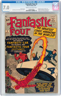 Silver Age (1956-1969):Superhero, Fantastic Four #3 (Marvel, 1962) CGC FN/VF 7.0 Cream to off-white pages....