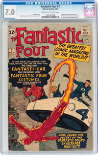 Fantastic Four #3 (Marvel, 1962) CGC FN/VF 7.0 Cream to off-white pages