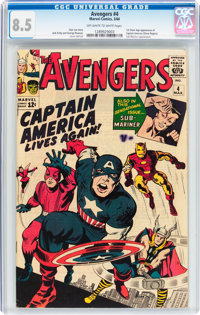 The Avengers #4 (Marvel, 1964) CGC VF+ 8.5 Off-white to white pages