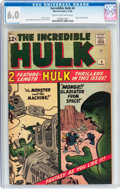 Silver Age (1956-1969):Superhero, The Incredible Hulk #4 (Marvel, 1962) CGC FN 6.0 Cream to off-white pages....