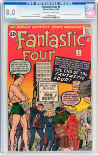 Fantastic Four #9 (Marvel, 1962) CGC VF 8.0 Off-white to white pages