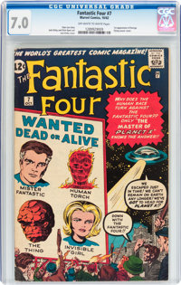 Fantastic Four #7 (Marvel, 1962) CGC FN/VF 7.0 Off-white to white pages